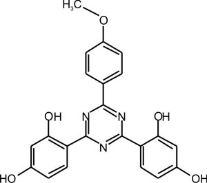 2-(4-Methoxyphenyl)4,6-bis-(2,4-dihydroxyphenyl) -1,3,5-triazine (Appolo-125)