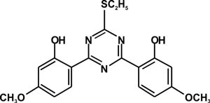 2,4-Bis(2-hydroxy-4-methoxyphenyl)-6-ethyl mercaptan-1,3,5-triazine (Appolo-124)
