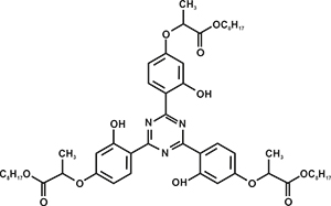 2,4,6-Tris(2-hydroxy-4-(1-octyloxy carbonylethoxy) phenyl)-1,3,5-triazine (Appolo-478) [Under Development]