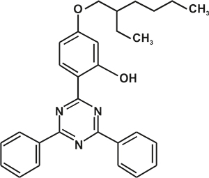 2,4-Bisphenyl-6-(2-hydroxy-4-iso octyloxyphenyl) -1,3,5-triazine (Appolo-1580) [Under Development]