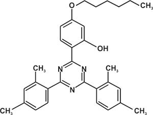 2,4-Bis-(2,4-dimethyl phenyl)-6-(2-hydroxy-4 -hexyloxyphenyl)-1,3,5-triazine (Appolo-1163) [Under Development]