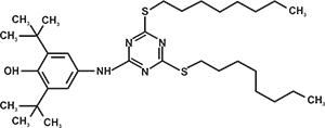 2,4-Bis-(octylthio)-6-(3,5-di tert butyl-4-hydroxyanilino) -1,3,5-triazine (Appolo-565) [Under Development]