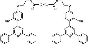 Bis[2-[4-(4,6-diphenyl-1,3,5-triazine-2-yl) -3-hydoxyphenoxy]ethyl]dodacenedioate (Appolo-1000) [Under Development]
