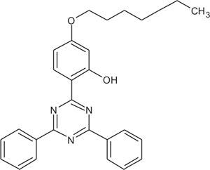 2-(2-Hydroxy-4-hexyloxyphenyl)-4,6-Bis(phenyl)-1,3,5-triazine (Appolo-1577)