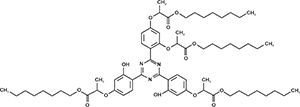 Octyl 2-[4-[4-[2,4-bis[(1-octoxy-1-oxopropan-2-yl)oxy]phenyl]-6-[2-hydroxy-4-(1-octoxy-1 -oxopropan-2-yl)oxyphenyl]-1,3,5-triazin-2-yl]-3-hydroxyphenoxy]propanoate (Appolo-477)